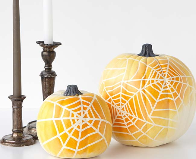 Ombre Spiderweb Pumpkin painting ideas