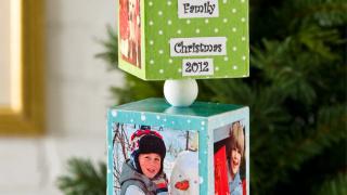 Photo Transfer Three Block Ornament