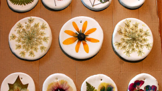 Pressed Flower Ornaments