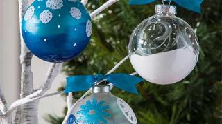 Mod Podge Snowflake Ornaments