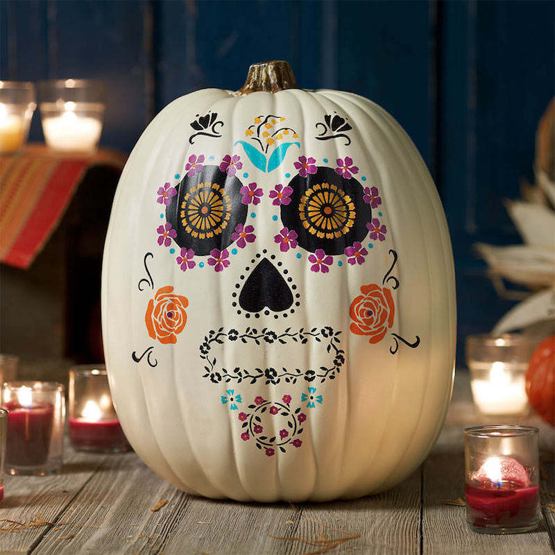 Spooky Day of the Dead Pumpkin