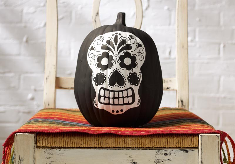 Sugar Skull Pumpkin painting ideas