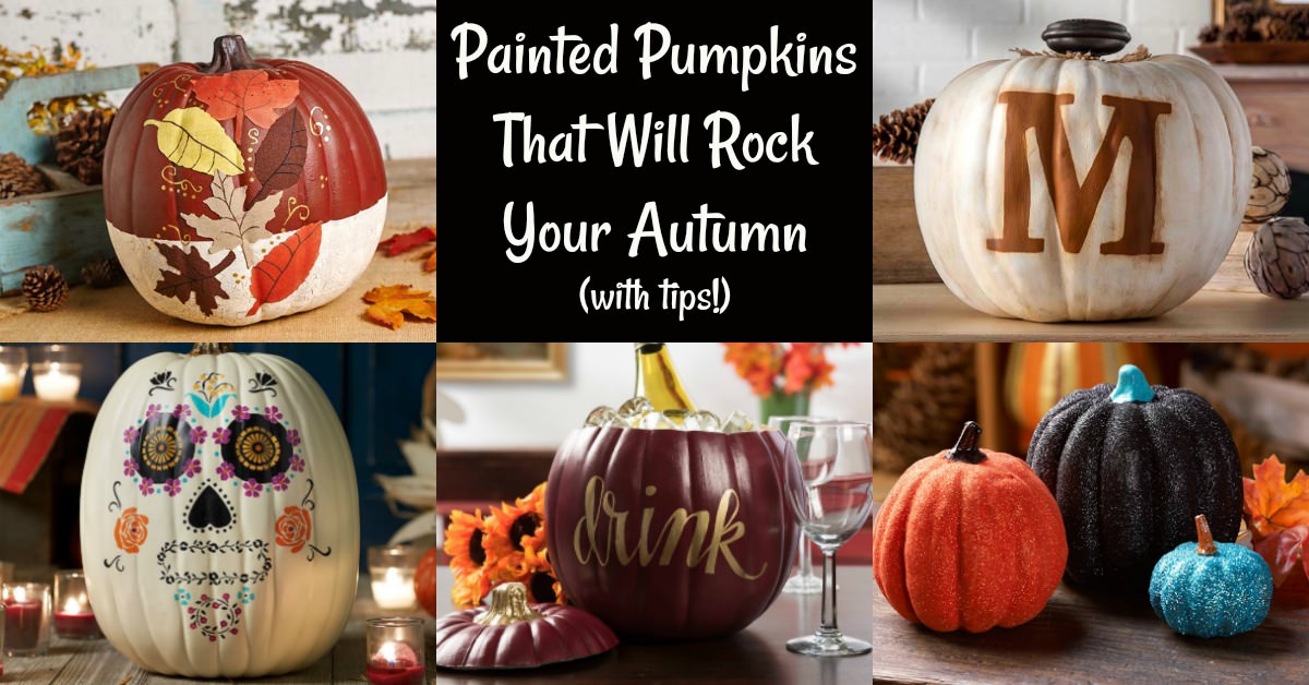 painted pumpkins to rock your fall