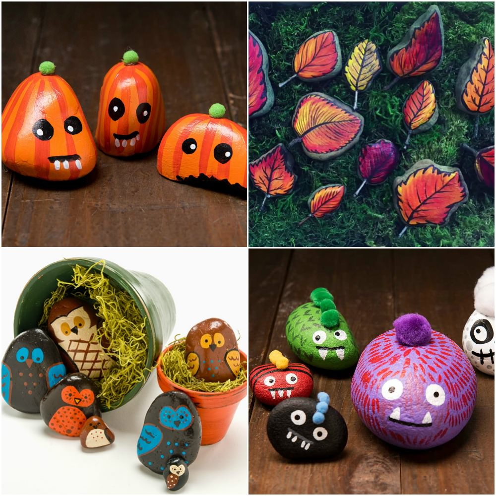 Easy Halloween Rocks You'll Have to Paint