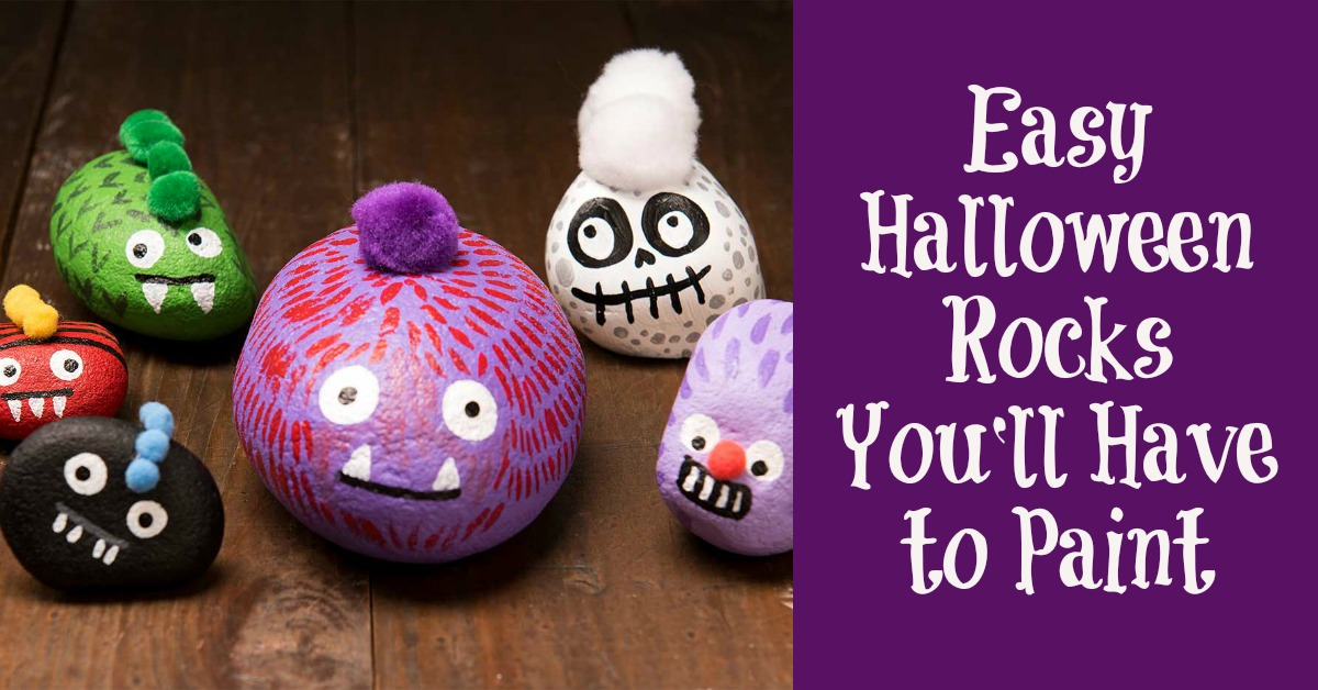 Easy Halloween rocks to paint