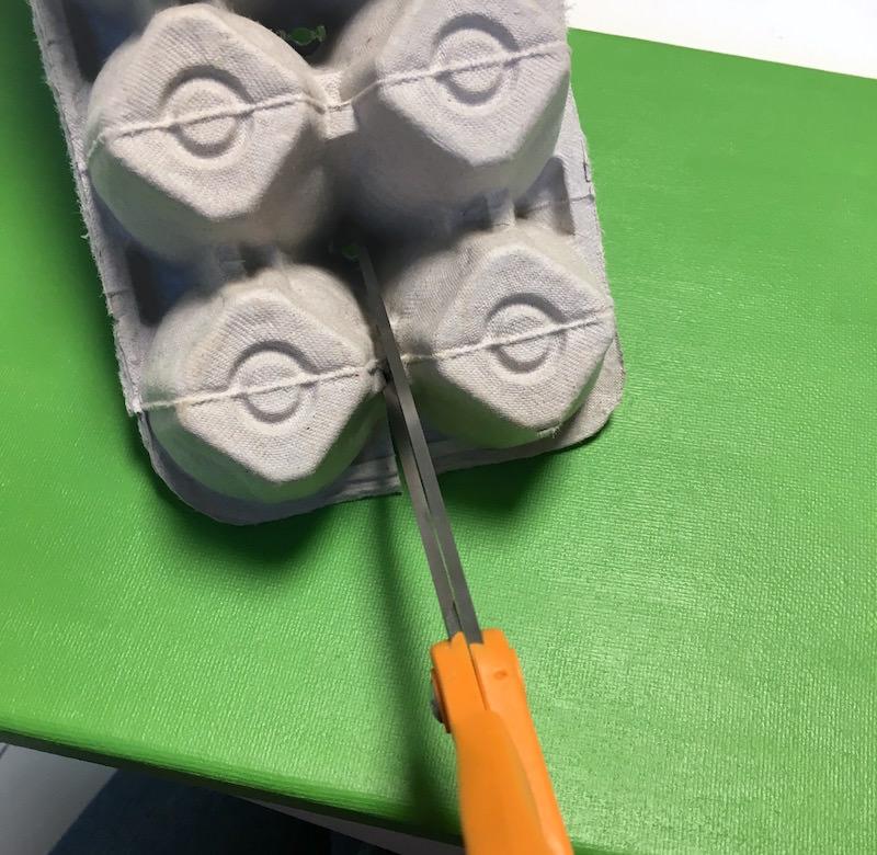 Cutting egg cartons