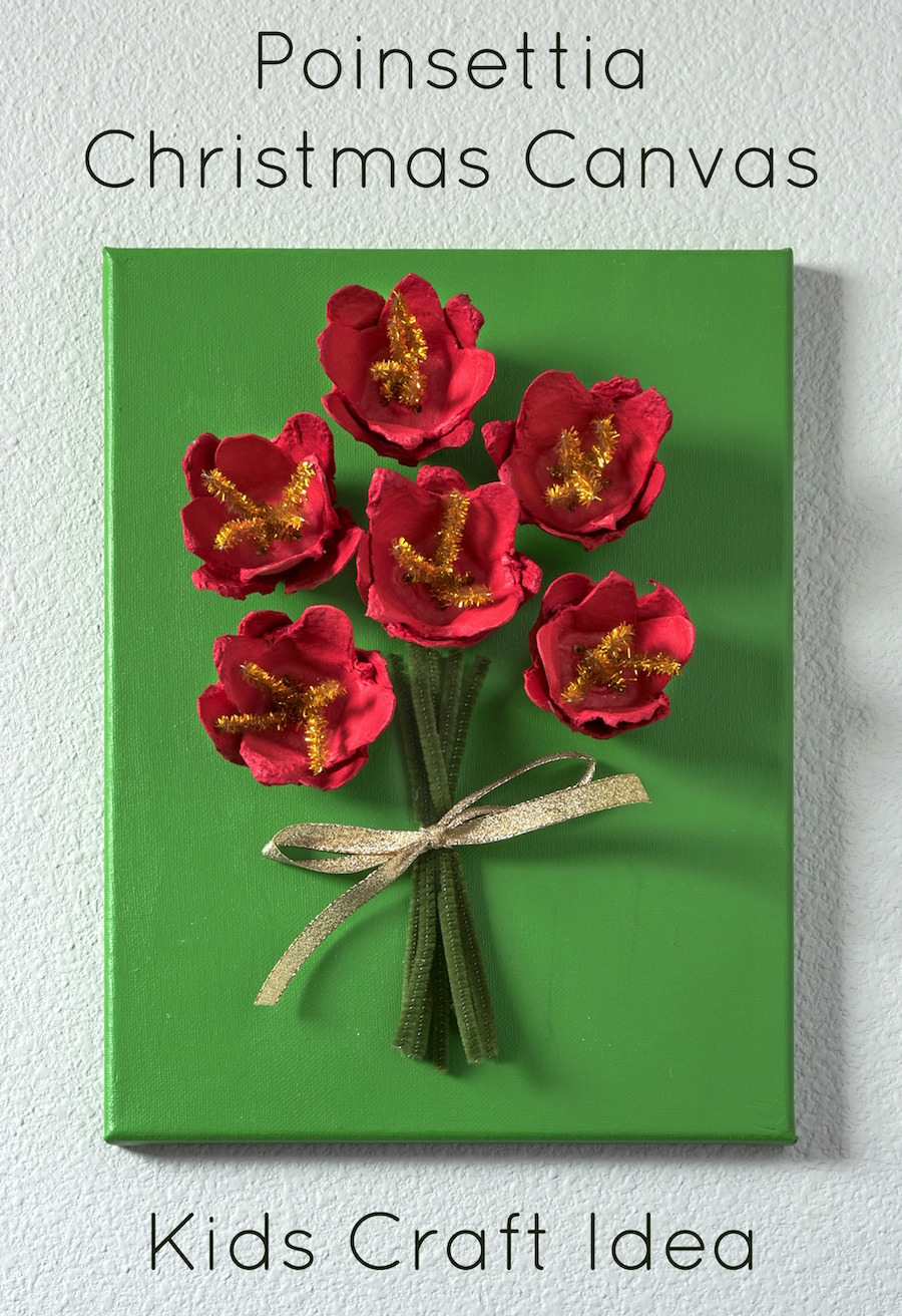 Pointsettia Christmas Craft for Kids