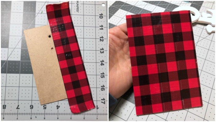 Cover the backer with plaid Duck tape