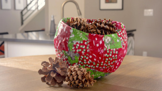 DIY Christmas Bowl Makes a Cool Centerpiece