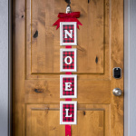 DIY Christmas door decor