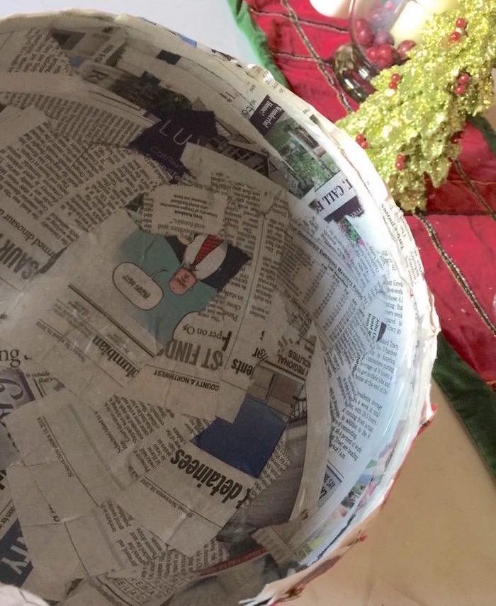 DIY newspaper bowl