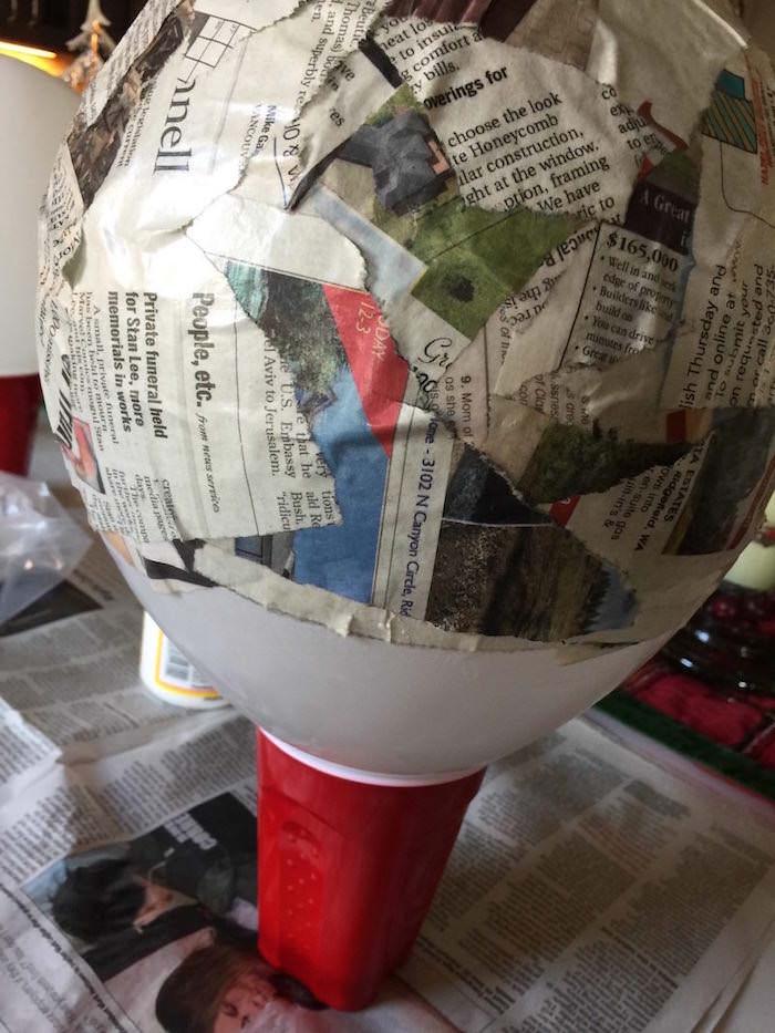 Dried newspaper strips