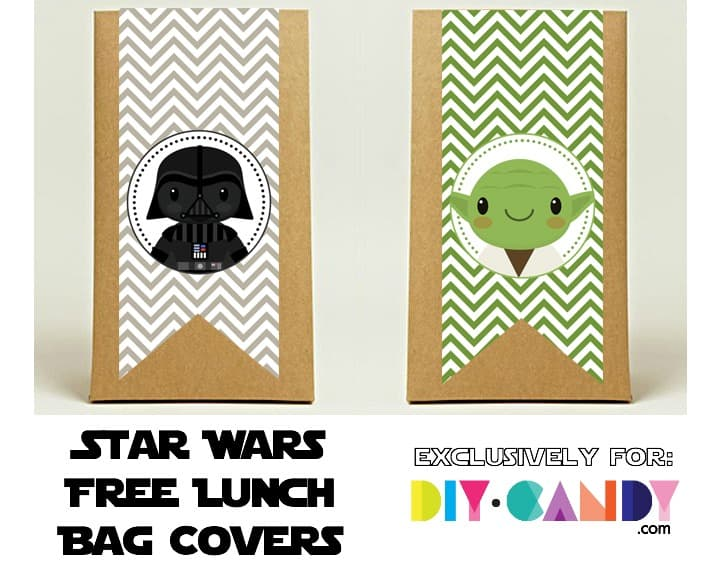 Star Wars lunch bag covers