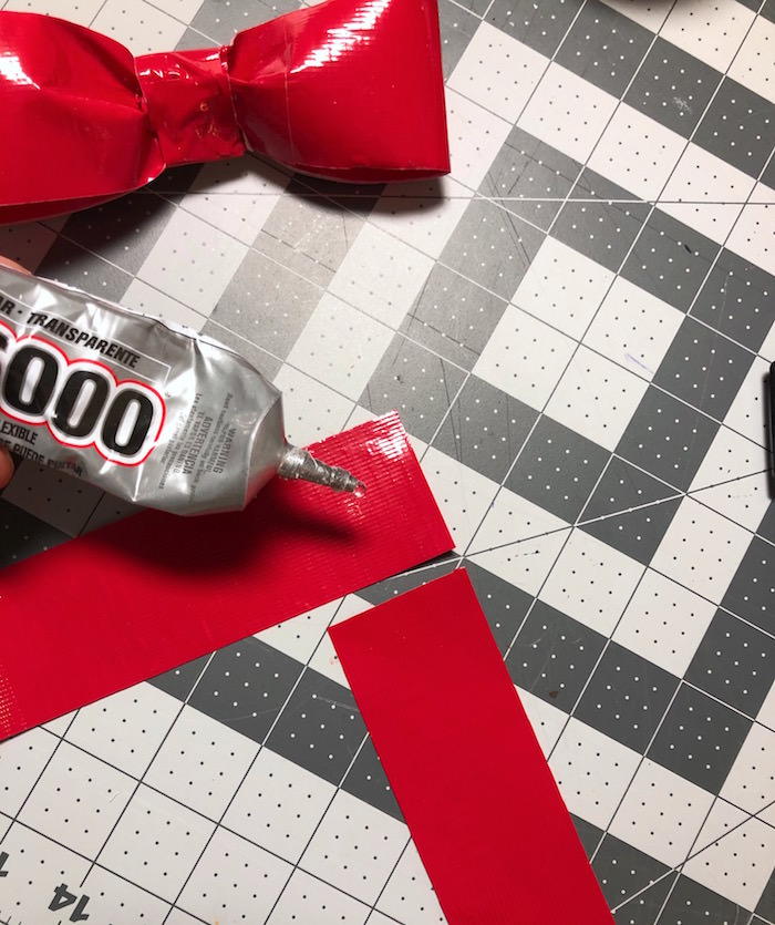 Glue the pieces of Duck Tape together