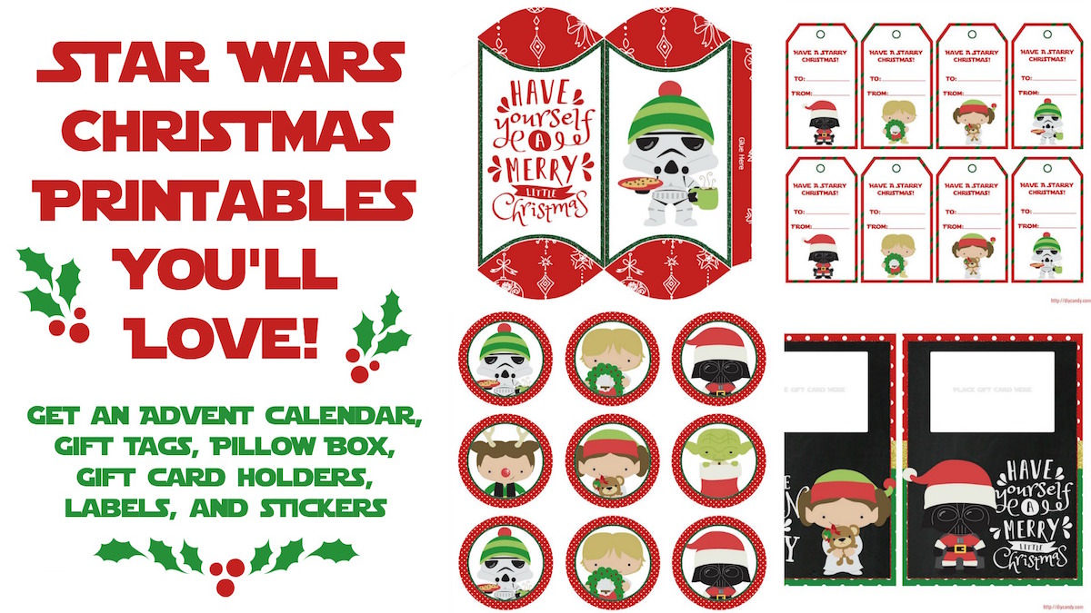 image regarding Printable Star Wars Images known as Star Wars Xmas Printables \u003d Suitable Holiday vacation At any time - Mod