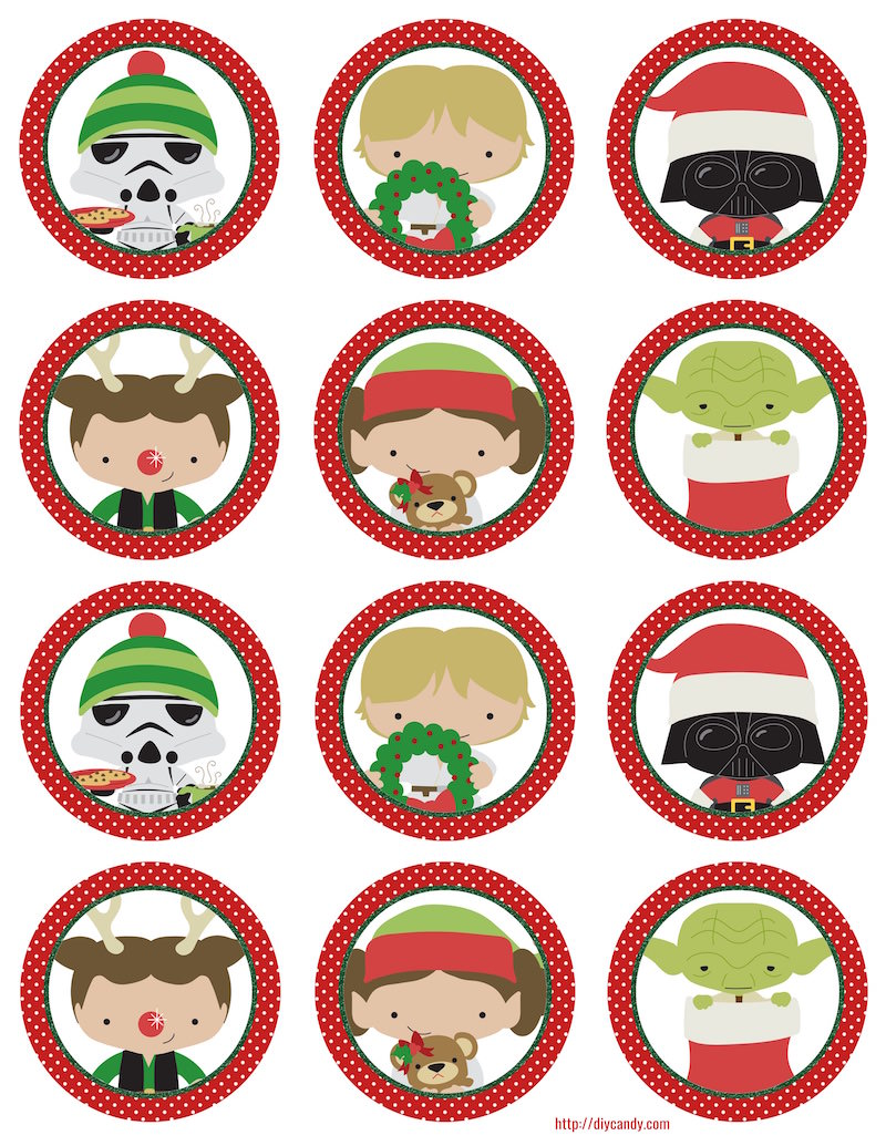 Star Wars Christmas stickers