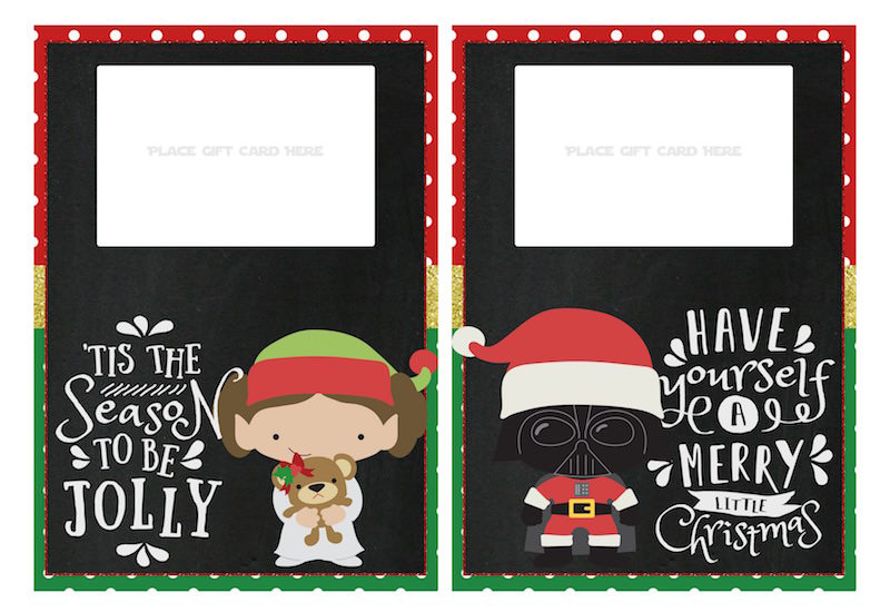 photo about Star Wars Printable Cards titled Star Wars Xmas Printables \u003d Ideal Vacation At any time - Mod