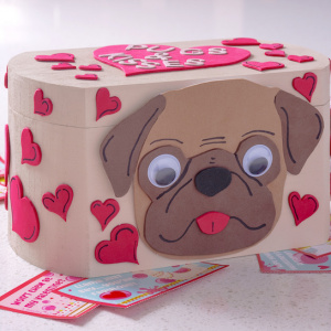 Pugs and Kisses valentine box