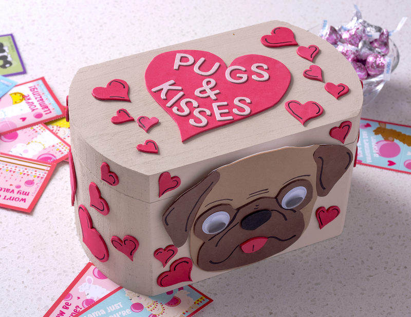 Pugs and Kisses valentine's day box