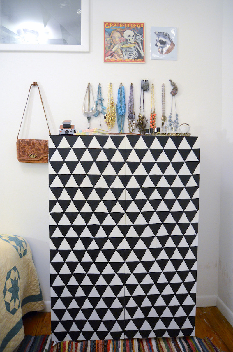 Geometric painted dresser ideas