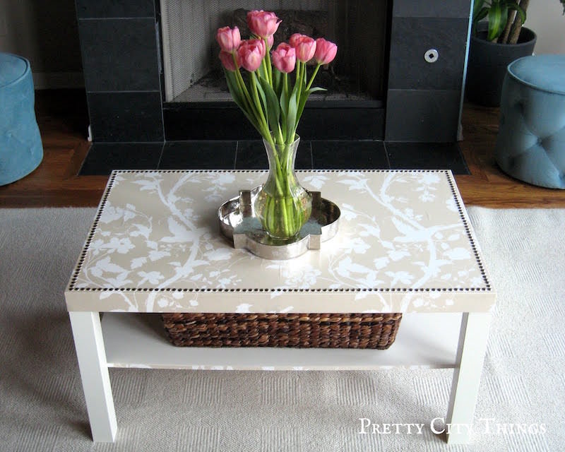 Mod Podge IKEA lack coffee table hack