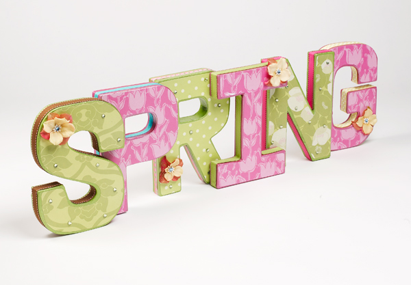 Mod Podge spring craft letters