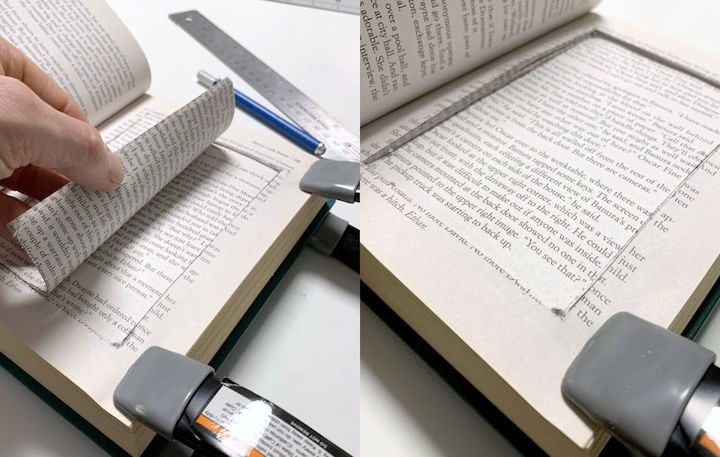 Pulling out the center of the book pages