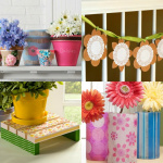 Spring crafts with Mod Podge