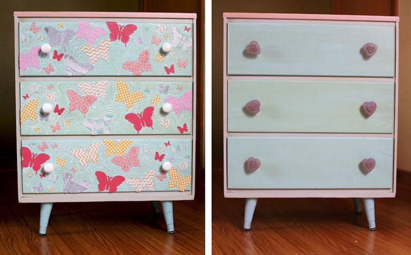 Upcycling-a-Dresser-Front-with-Butterflies