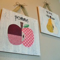 French Fruit Wall Art