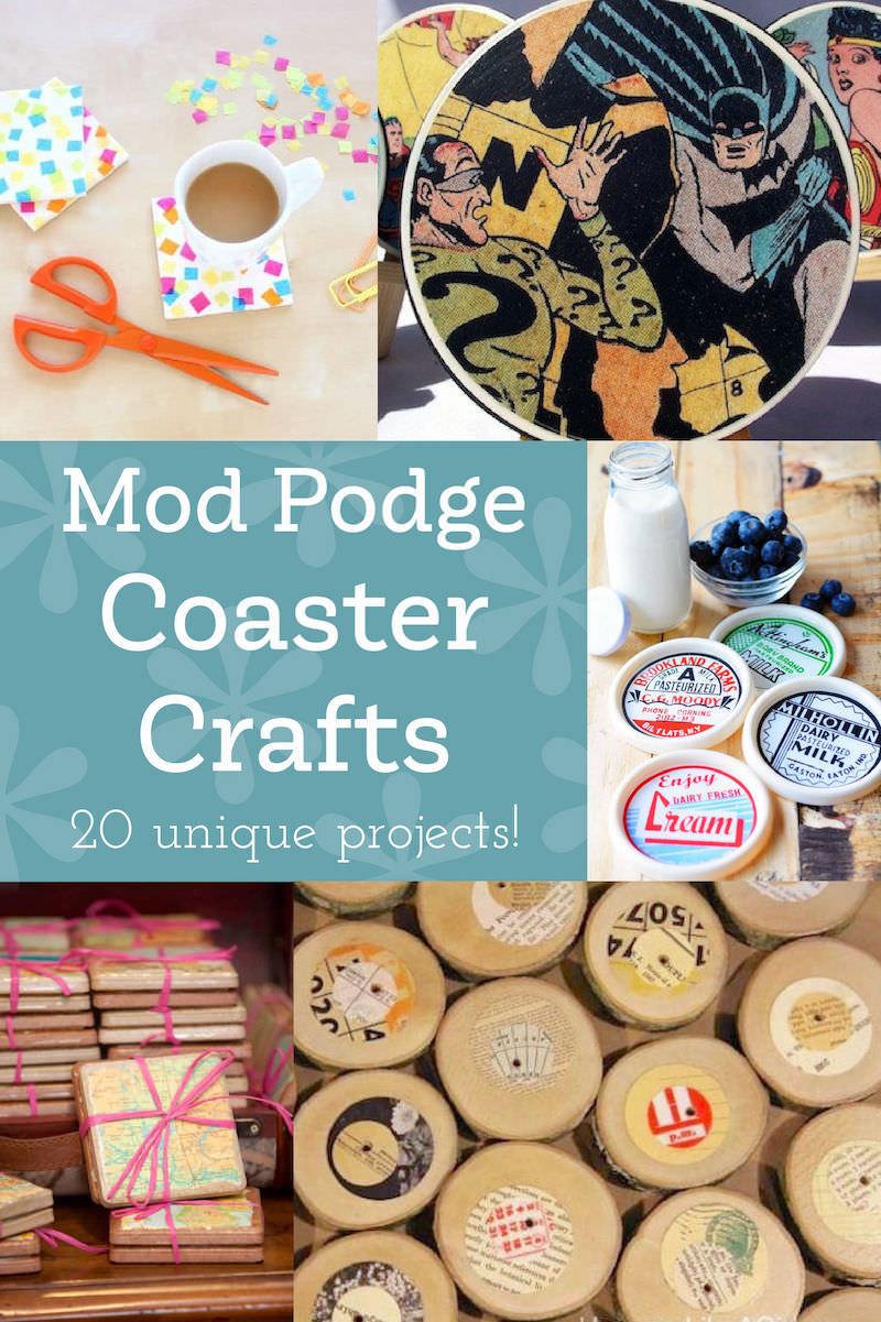 Mod Podge Coaster Crafts