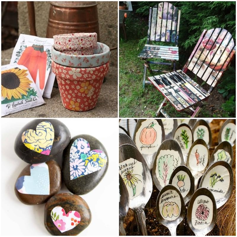Mod Podge garden crafts