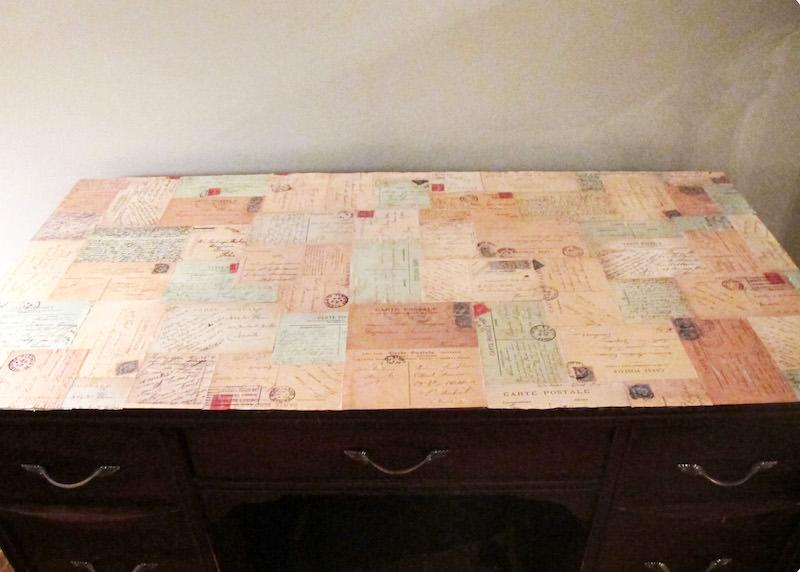 Decoupage desk