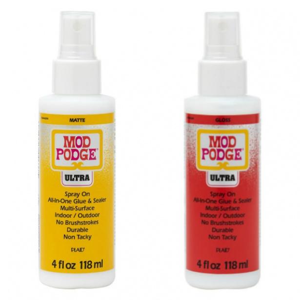 Two bottles of Mod Podge Ultra