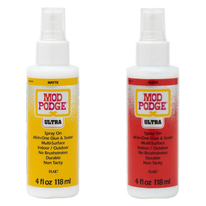 Two bottles of Mod Podge Ultra
