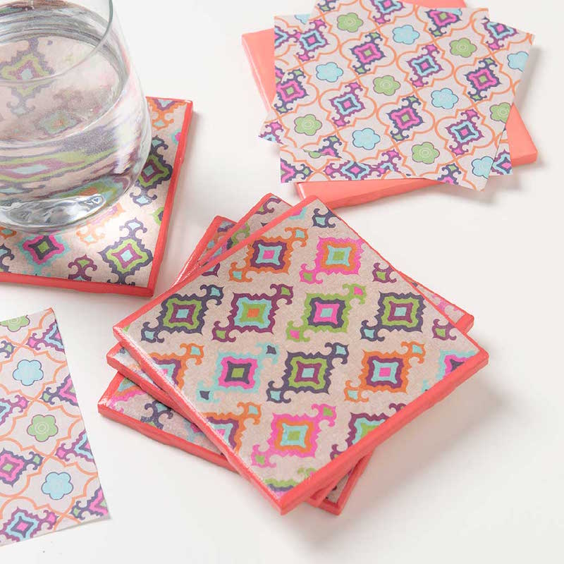 Mod Podge coasters with Mod Podge Ultra