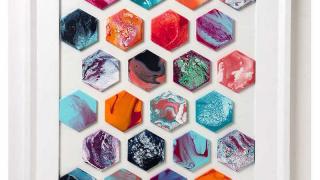 Marbled Tiles Wall Art