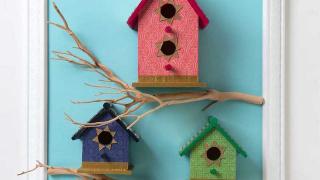 Tiled Birdhouses