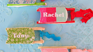 DIY Personalized Ornaments made with Mod Podge
