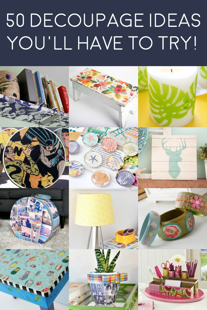 50 decoupage ideas