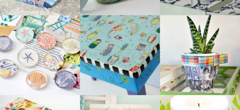 Crafts made with decoupage glue