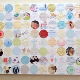 Make a wedding card collage