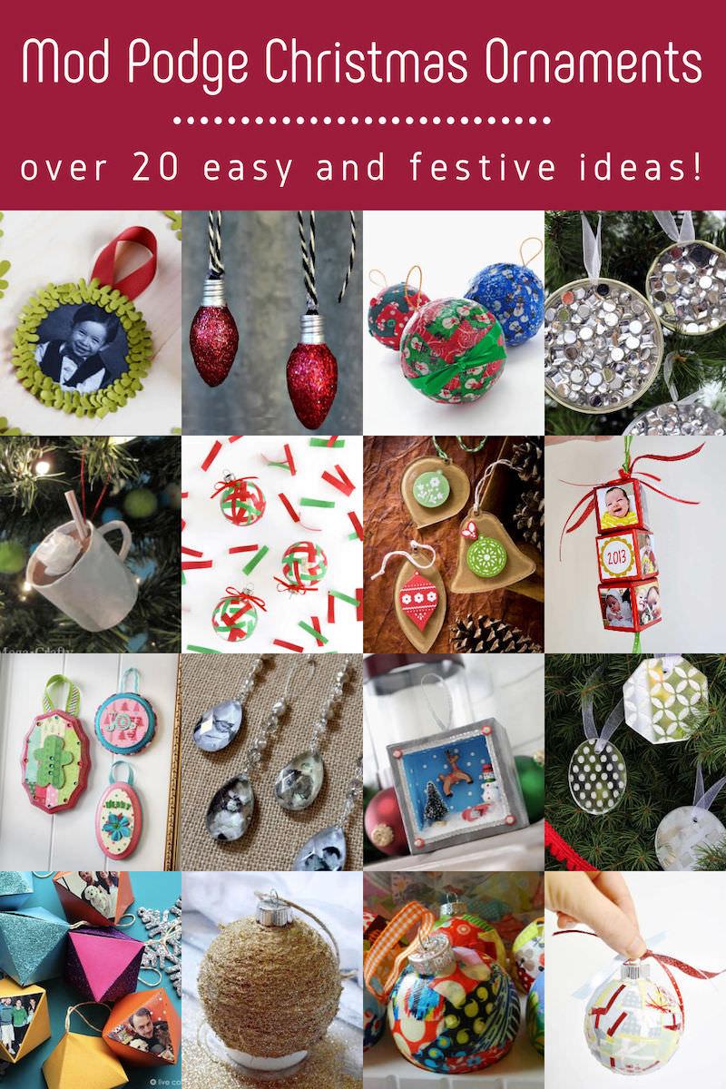 Mod Podge Christmas Ornaments