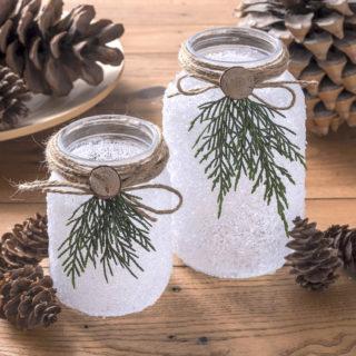 Mason jar Christmas luminaries
