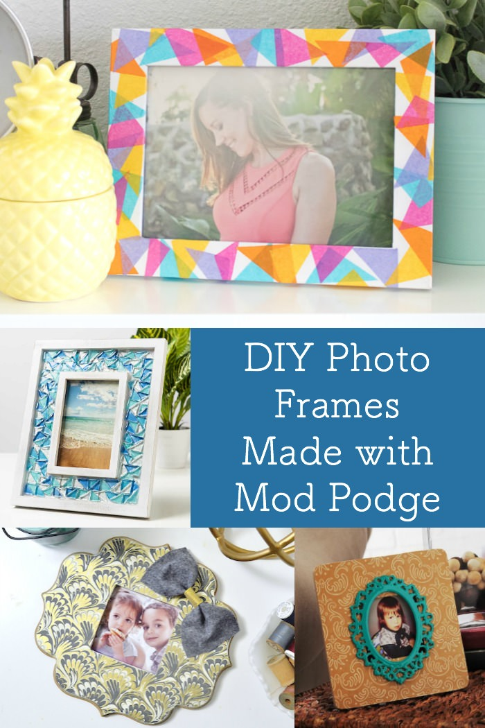 diy photo frames with mod podge