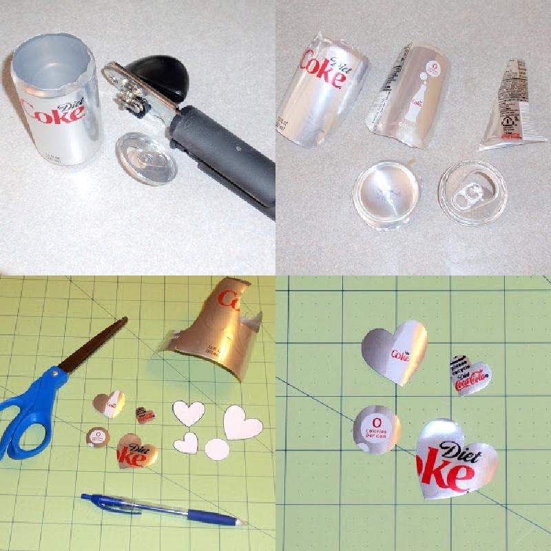 Cutting a soda can