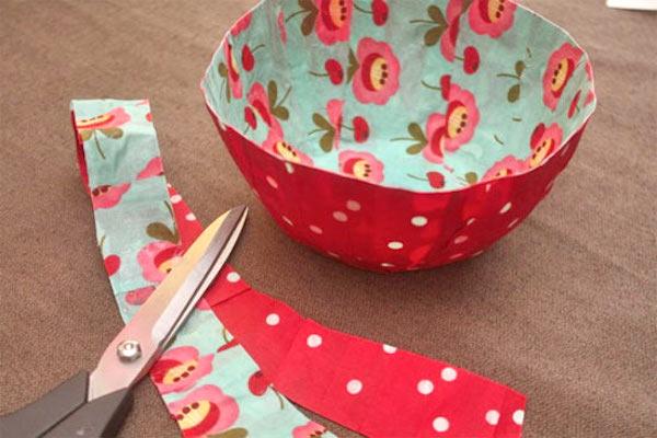 Mod Podge fabric bowls