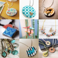 Decoupage necklaces feature image