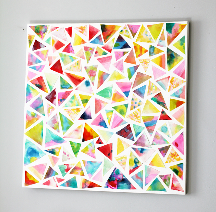 make a watercolor collage
