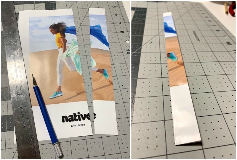 Cut magazine pages and fold